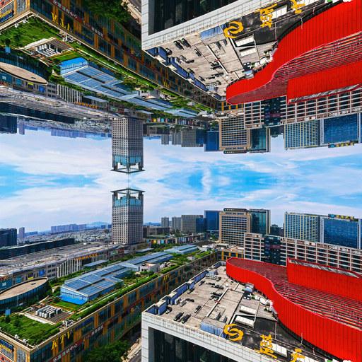 蓝天市心的天空之城